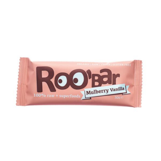 Roo`Bar Rohkostriegel Mulberry & Vanilla, 30 gr St