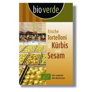 bio-verde Frische Tortelloni mit Kürbis und Sesam,