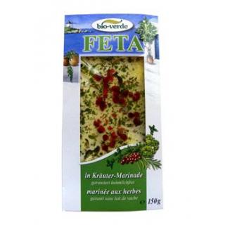 bio-verde Feta in Kräutermarinade, 150 gr Packung