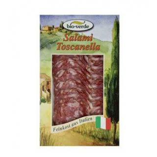 bio-verde Salami Toscanella, geschnitten, 80 gr Pa