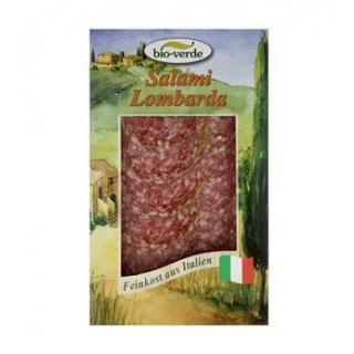 bio-verde Salami Lombarda, geschnitten, 80 gr Pack