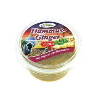 bio-verde Hummus Ginger, 150 gr Becher