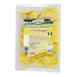 bio-verde Ravioli mit 4 Sorten Käse, 250 gr Packun