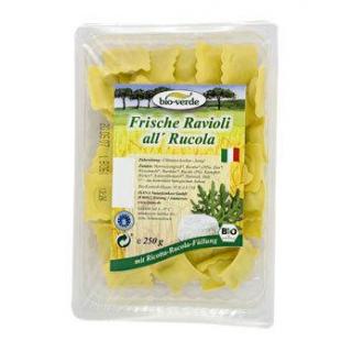 bio-verde Ravioli mit Rucola & Ricotta, 250 gr Pac