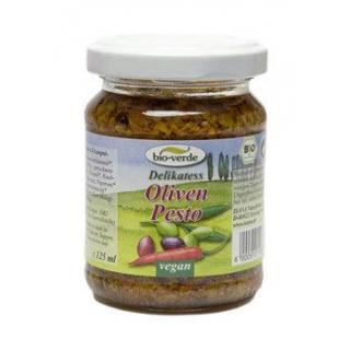 bio-verde Pesto Olive, 6x 125 ml Glas