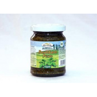 bio-verde Pesto Basilikum, 6x 125 ml Glas