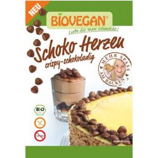 Biovegan Dekor Schoko Herzen, 35 gr Tüte