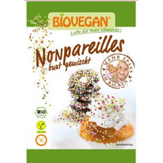 Biovegan Nonpareilles bunt gemischt, 35 gr Tüte