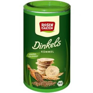 Rosengarten Dinkels Kümmel-Cräcker, 100 gr Dose