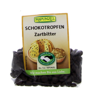 Rapunzel Schokotropfen Zartbitter HIH, 100 gr Pack