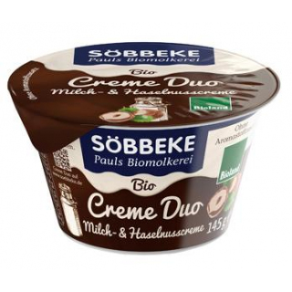 Söbbeke Creme Duo, Milch- und Haselnusscreme, 145