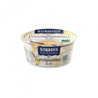 Söbbeke Grießpudding Vanille, 150 gr Becher