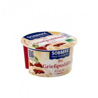 Söbbeke Grießpudding Kirsche, 150 gr Becher