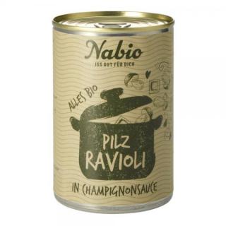 Naba Feinkost Ravioli Pilz, 400 gr Dose