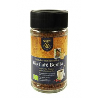 Gepa Café Benita, löslicher Bohnenkaffee,  100 gr