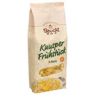 Bauck Hof Knusper Frühstück - 3-Korn, 225 gr Packu