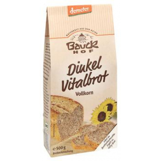 Bauck Hof Dinkel Vitalbrot Vollkorn, 500 gr Packun