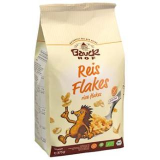 Bauck Hof Reisflakes, 375 gr Packung -glutenfrei-