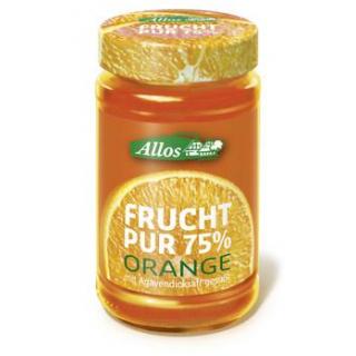 Allos Frucht pur Orange, 250 gr Glas -75% Fruchtan