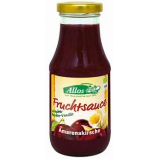 Allos Fruchtsauce Amarenakirsche, 250 ml Glas