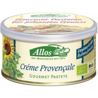 Allos Gourmet Pastete Crema provencale, 125 gr Dos