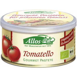 Allos Gourmet Pastete Tomatello, 125 gr Dose