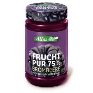 Allos Frucht pur Brombeere, 250 gr Glas -75% Fruch