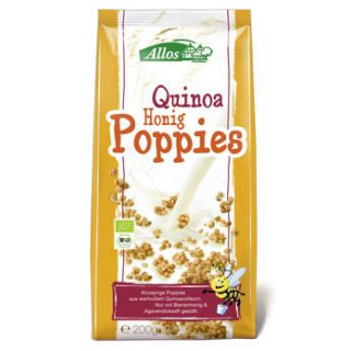 Allos Quinoa-Honig-Poppies, 200 gr Packung