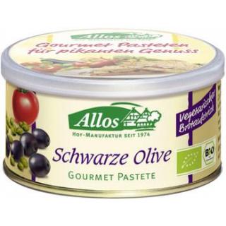 Allos Gourmet Pastete Schwarze Olive, 125 gr Dose