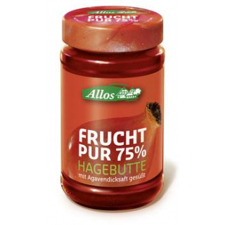 Allos Frucht pur Hagebutte, 250 gr Glas -75% Fruch