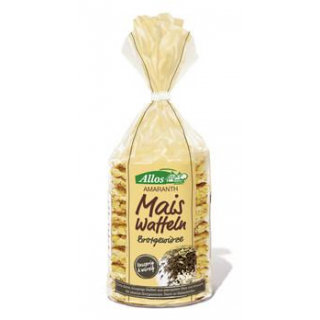 Allos Amaranth-Mais-Waffeln, mit Brotgewürzen, 100