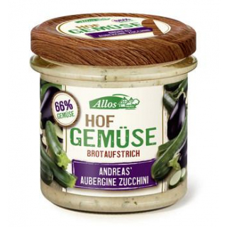 Allos Hofgemüse Andrea`s Aubergine Zucchini, 135 g