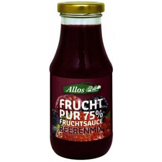 Allos Frucht Pur 75% Fruchtsauce Beerenmix, 250 ml