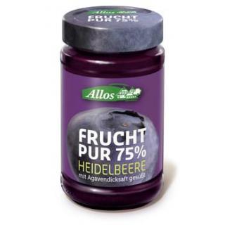 Allos Frucht Pur Heidelbeere, 250 gr Glas -75% Fru