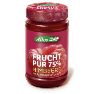 Allos Frucht Pur Himbeere, 250 gr Glas -75% Frucht