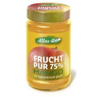 Allos Frucht pur Mango, 250 gr Glas -75% Fruchtant
