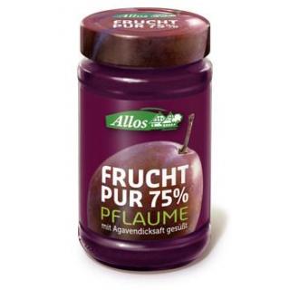 Allos Frucht pur Pflaume, 250 gr Glas -75% Fruchta