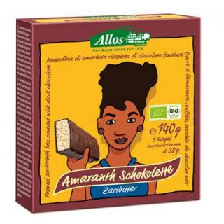 Allos Amaranth Schokolette-Zartbitterriegel, 5er P