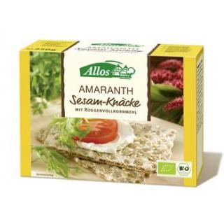 Allos Amaranth Knäcke mit Sesam (Vollkorn), 250 gr