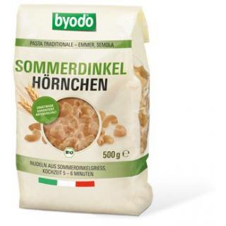 byodo Hörnchen Sommerdinkel, 500 gr Packung -hell-