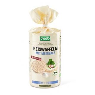 byodo Reiswaffeln mit Meersalz, 100 gr Packung -gl