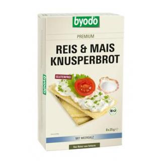 byodo Reis & Mais Knusperbrot, 200 gr Packung -glu