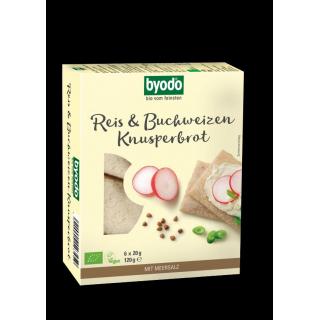byodo Reis & Buchweizen Knusperbrot, 120 gr Packun