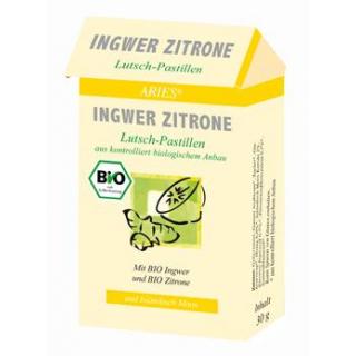 Aries Ingwer-Zitrone-Lutsch-Pastillen, 30 gr Packu