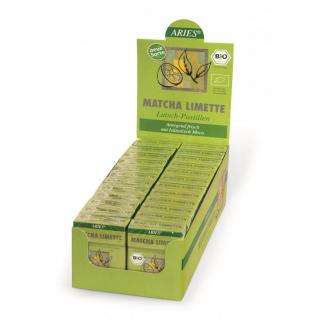 Aries Matcha-Limette, 30 gr Packung Lutschpastille