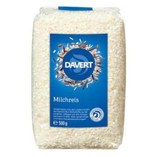 Davert Milchreis, rund, weiß, 500 gr Packung