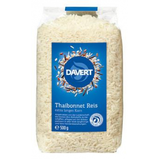 Davert Thaibonnet Langkorn Reis, weiß, 500 gr Pack
