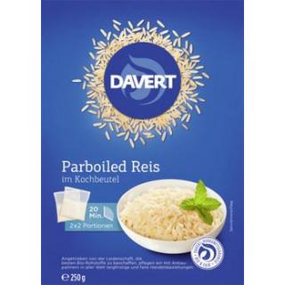 Davert Parboiled Reis im Kochbeutel, 250 gr Packun