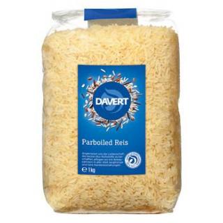 Davert Parboiled Reis, lang, weiß, 1 kg Packung