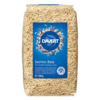 Davert Jasmin-Reis, braun, ungeschält, 500 gr Pack